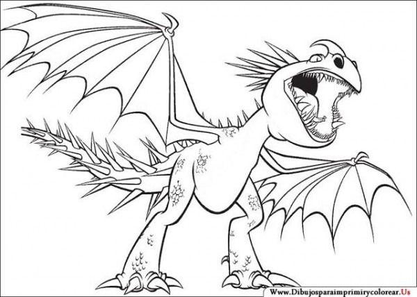 Dibujos Para Colorear De Como Entrenar A Tu Dragon 2 Dragao Para