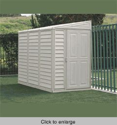 DuraMax Vinyl Storage Shed - 4 x 8 SideMate w/ Foundation - click to enlarge