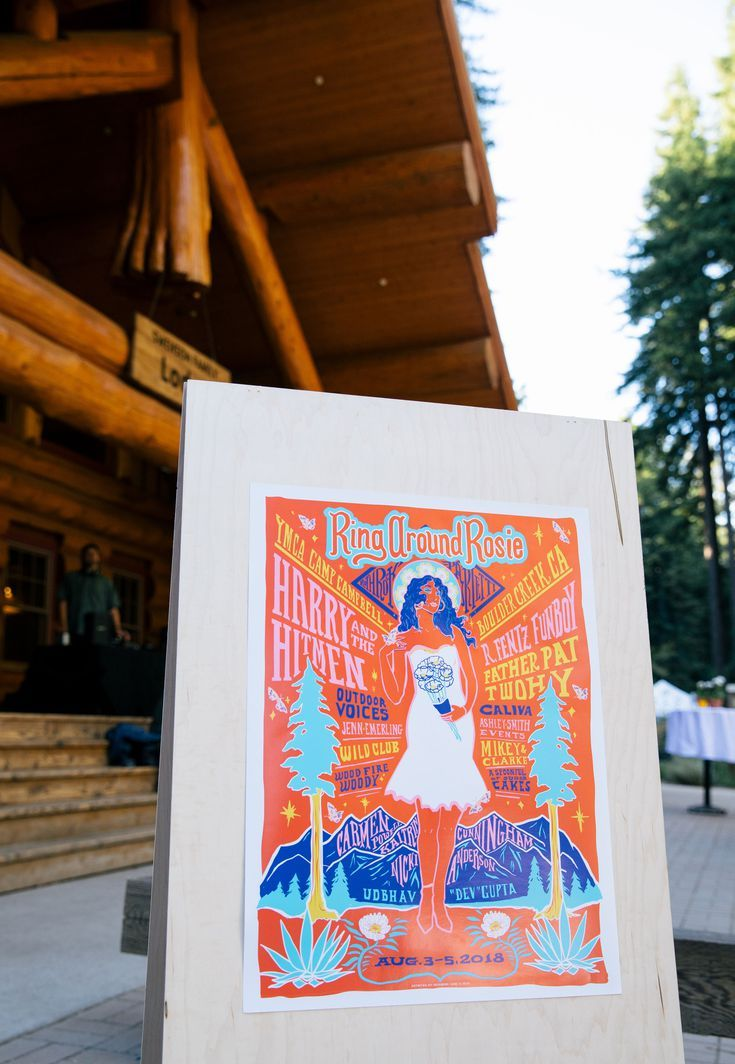 A Colorful Camp Wedding in the California Redwoods Camp