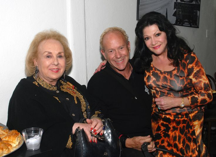 Actress Doris Roberts, Director Randy Johnson and International Artist Irina Maleeva at the Opening of the sold out show Illusions.
