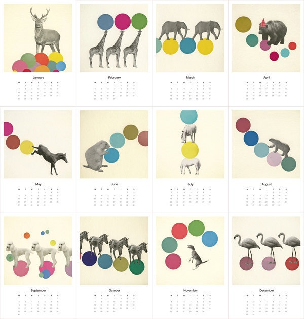 Animal Collective Mini Calendar 2013 by Violet May