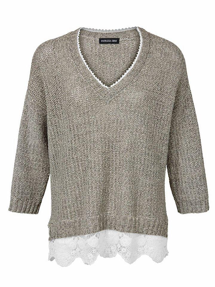 PATRIZIA DINI by Heine V-Pullover mit Spitze Jetzt bestellen unter: https://mode.ladendirekt.de/damen/bekleidung/pullover/v-pullover/?uid=ab7ddb2e-6788-571b-bbd2-92b881ade140&utm_source=pinterest&utm_medium=pin&utm_campaign=boards #vpullover #pullover #bekleidung