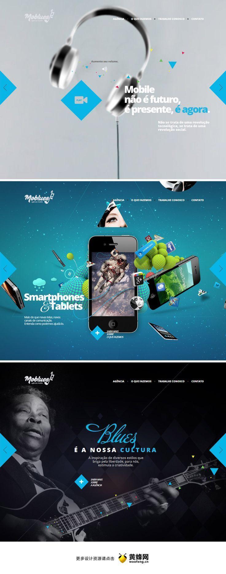 25 présentations originales pour des web design en full-page | BlogDuWebdesign