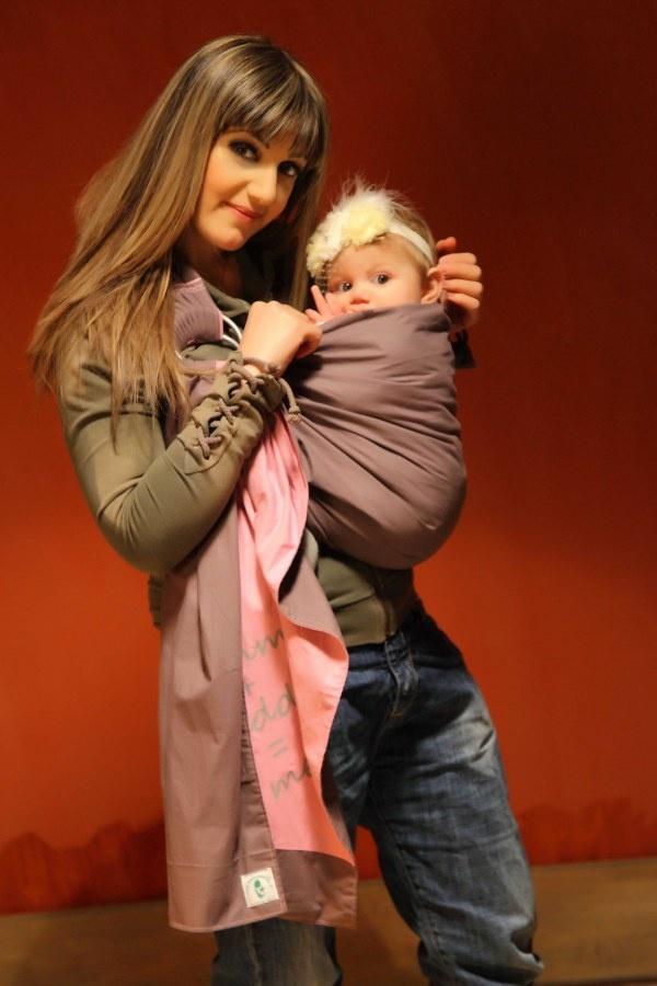Sophia and Annie with Asteraki sling - cute!