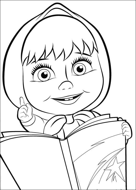Masha and the Bear Coloring Pages 16