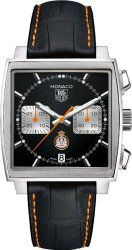 Tag Heuer Monaco Leather Chronograph Mens Watch CAW211K.FC6311