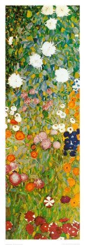 Flower Garden (detail) Print by Gustav Klimt at AllPosters.com