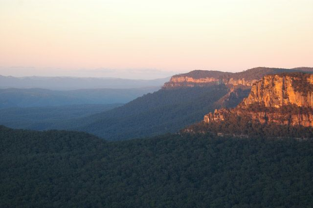 Click here for information about this Blue Mountains at Dawn photo. You can buy handmade greeting cards with this photo for $4.50 delivered. www.theshortcollection.com.au/Blue-Mountains