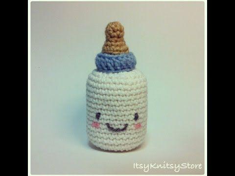 Crochet pattern for baby milk bottle - YouTube ༺✿ƬⱤღ https://www.pinterest.com/teretegui/✿༻