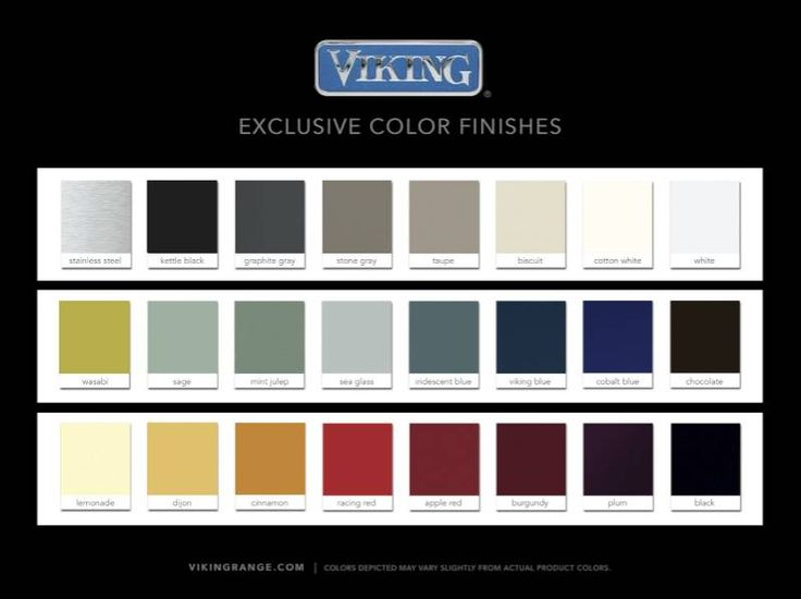 Viking Appliance Color Chart | Viking Range Color Finishes Photo Credit  Viking Range I Could