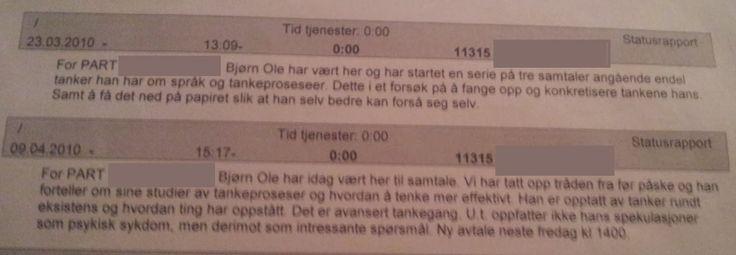 Utdrag fra rapport, Psykiatrisk Ambulerende Rehabiliterings Team