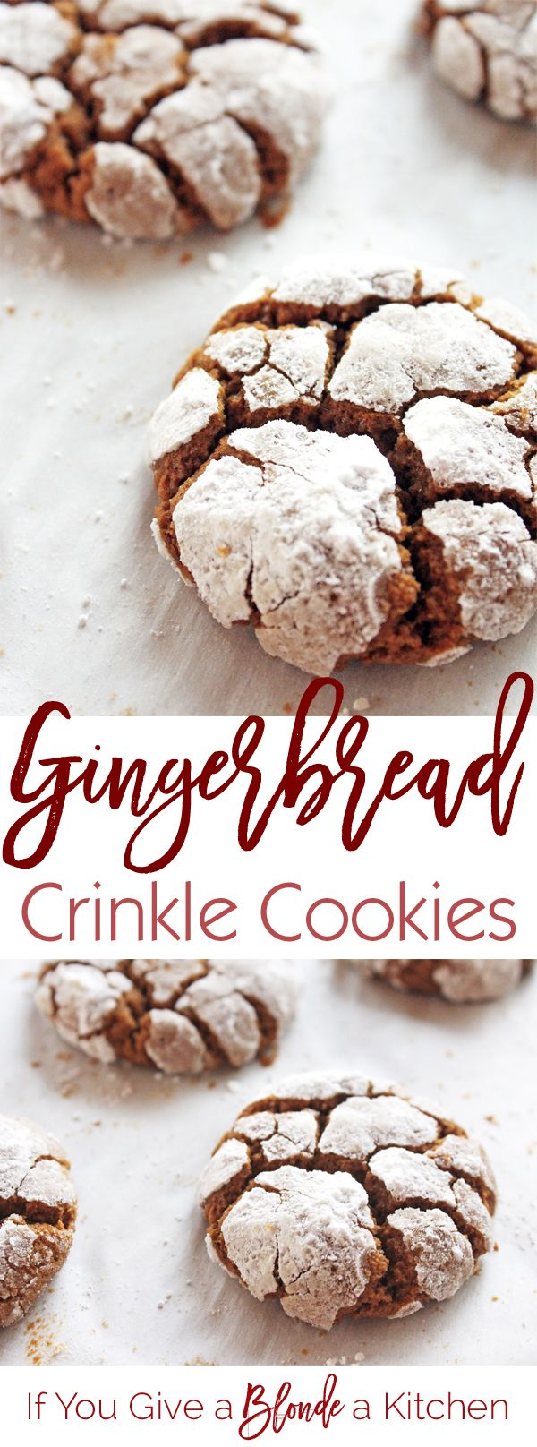 Crinkle cookies get a Christmas makeover. These cookies are made with…
