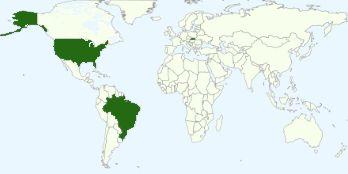 Graf najobľúbenejších krajín medzi čitateľmi blogu