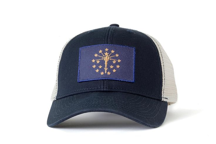 Indiana Flag Mesh Hat by CivilStandardLLC on Etsy https://www.etsy.com/listing/257650735/indiana-flag-mesh-hat