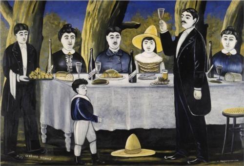 Family Feast - Niko Pirosmani