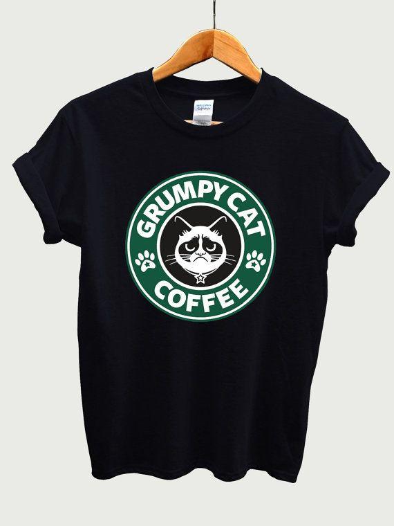 Camiseta gato gruñón café, camiseta de Starbucks, LIMITE EDITION
