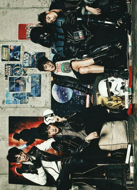 Vogue Korea, December 2015 Issue : EXO x STAR WARS Collaboration - Chen, Suho, Sehun and Kai