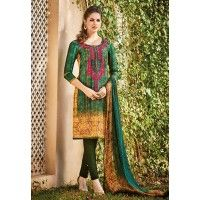 Latest Designer Salwar Kameez Shipping Period- 7 to 10 days Multicolor Khadi Silk Designer Salwar Kameez