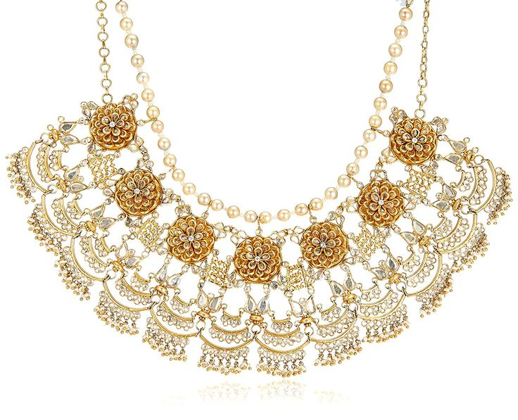 Tarun Tahiliani Lifestyle Jewellery Necklace for Women (Pale Yellow) (PPN0005)