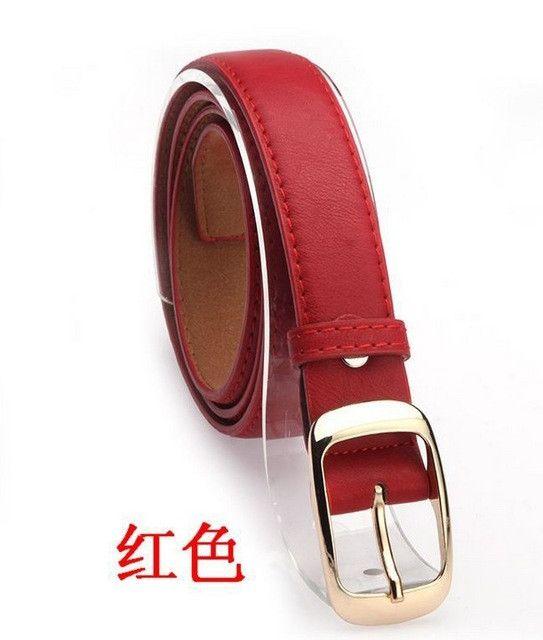 Women Belts Cinturones Mujer Ladies Faux Leather Metal Buckle Straps Girls Fashion Accessories