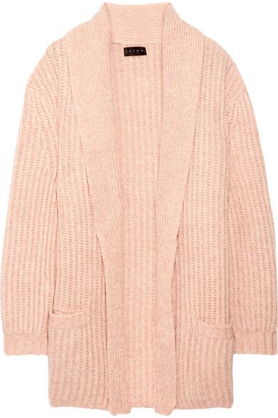 HATCH - Ribbed Wool And Cotton-blend Cardigan - Pastel pink