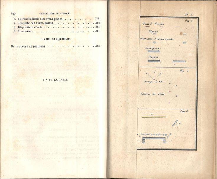 """Decker, """"De la petite guerre"""", Paris, J. Corréard, 1845. Table des chapitres, image 4 sur 4."""