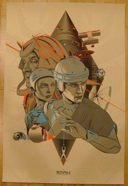 "2012 ""Tron"" - Silkscreen Movie Poster by Martin Ansin"