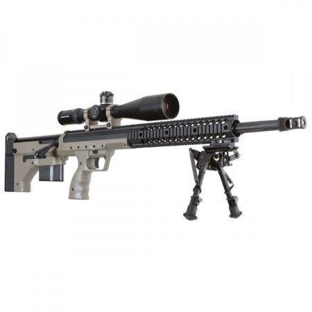 Desert Tactical Arms SRS Rifle in .338 Lapua.  If I couldn't get one of the Barrett .50's - I would get this one.  Sweet rifle.