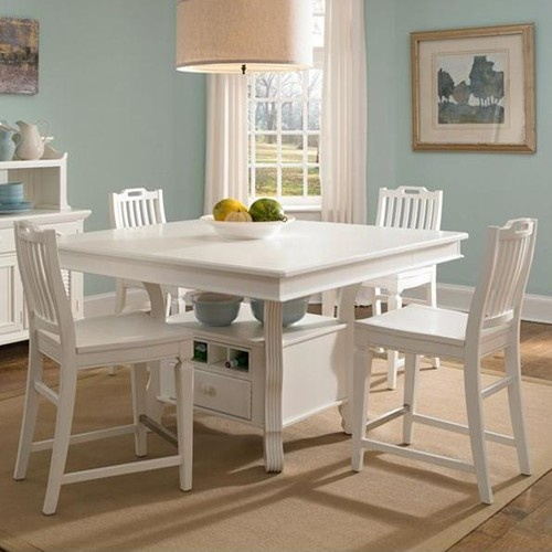 Mirren Harbor 5 Piece Counter Height Table With Stools Set By Broyhill Furniture