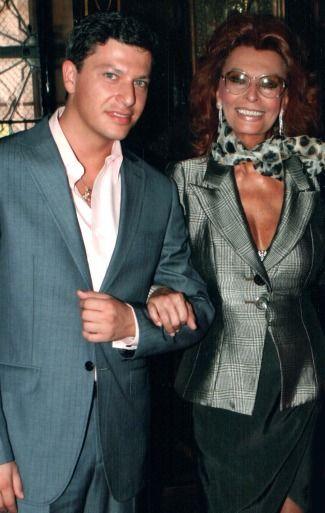 Patrizio Buanne with Sofia Loren