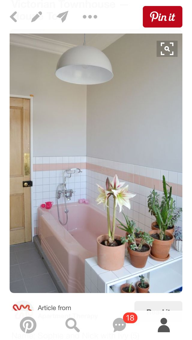 Here Is An Idea To Make Your Pink Bathroom Tile Feel More Like It Was Part Of Your Plan And Not Something You Had To Make Do With