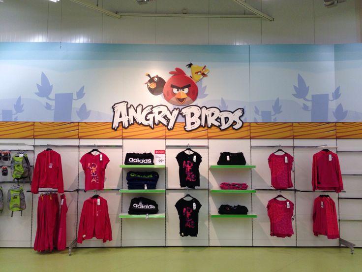 Angry Bird wall