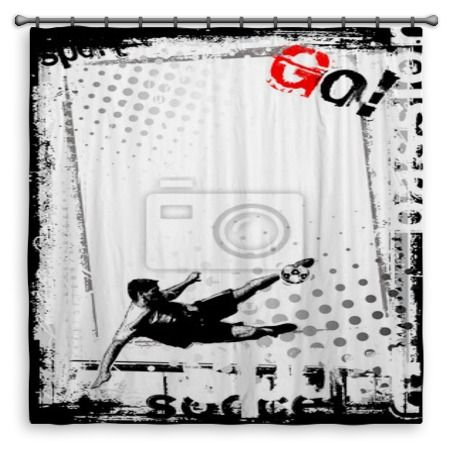 go soccer shower curtain at