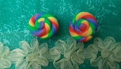 Colorful Swirl Earring Clip On DDN