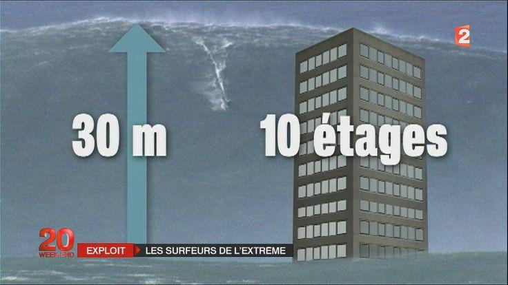 "VAGUE DE 30 METRES : SURFE A "" NAZARE "" INCROYABLE !!! , PORTUGAL .HD1080p"