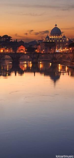 Tiber river, Rome by Hercio Dias