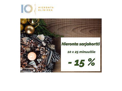 Joulukalenteri 6. Luukku | Hieronta Leppävaara | Hieronta IO-Klinikka