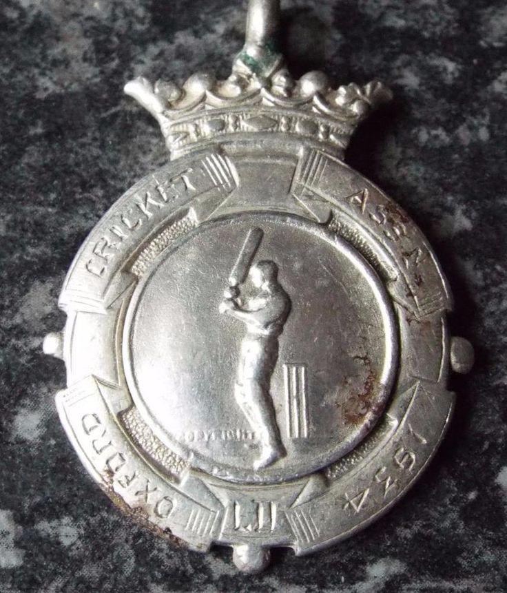 1934 Oxford Cricket Association Sterling Silver Fob Medal