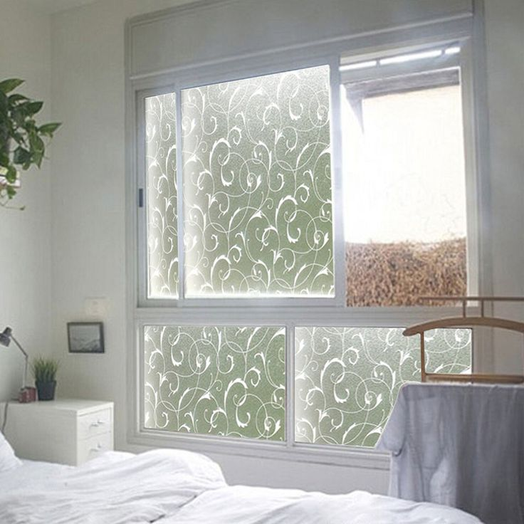 Home Frosted Glass Privacy Scroll Flower Window Static Cling Self Adhesive Film #Unbranded