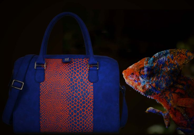 A Colored Chameleon - Inspiration for this satchel bag from our SS15'