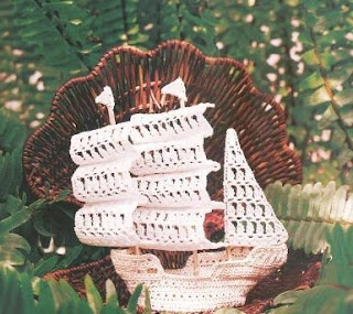 Crochet boat with diagram - Must make this! (In black of course)