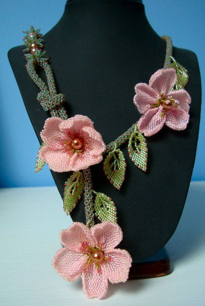 Pink Briar Rose Necklace