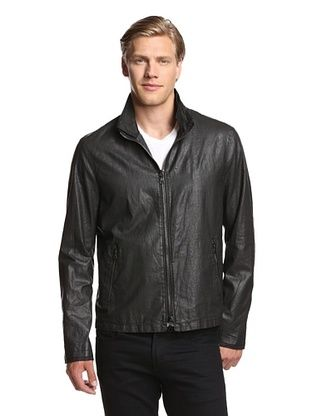 62% OFF John Varvatos Collection Men's Zip Front Short Jacket (Black)