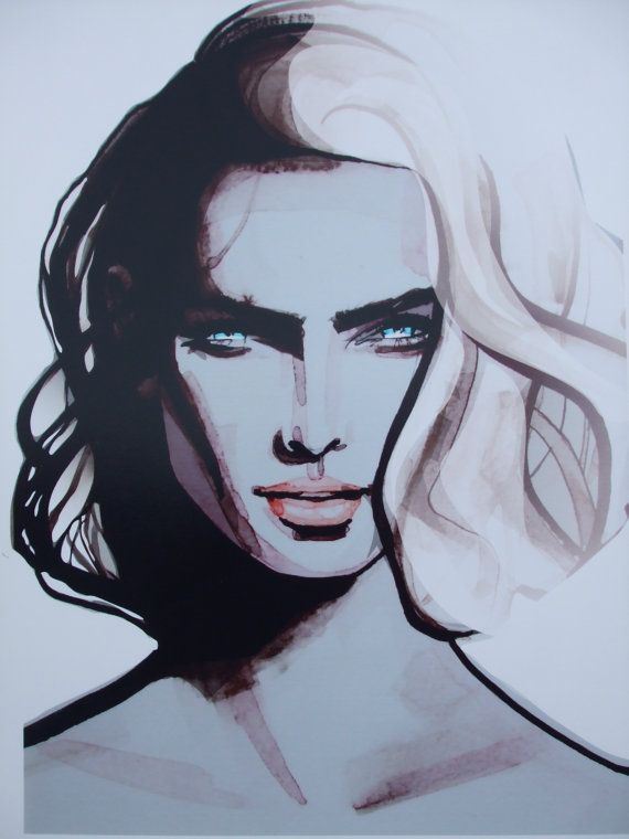 Sienna  Fashion illustration print from by RachelMaughan on Etsy