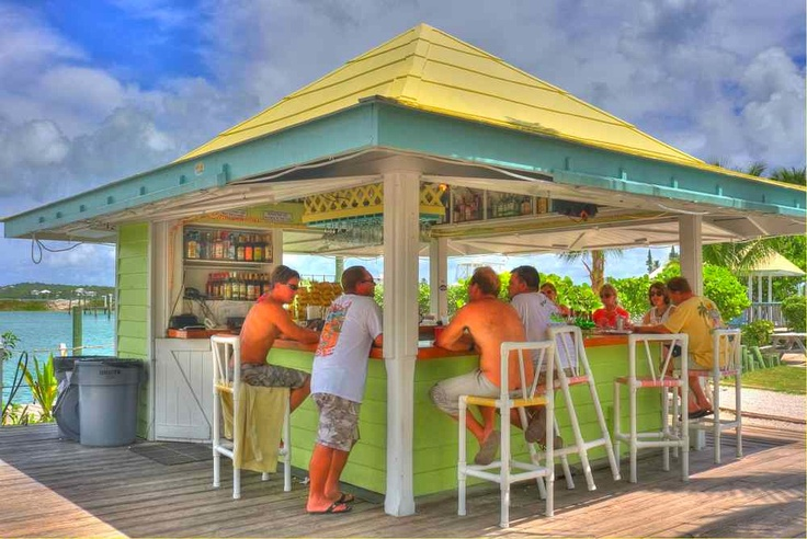 Beach bar at sea spray resort marina white sound elbow for Beach bar ideas