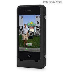 "iPhone 4S/4のカメラに連写やフォーカス機能を拡張できるハードケース  Hard Case ""Kapok"" continuous shooting can extend the capabilities and focus"