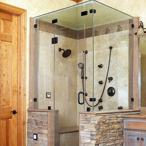 Tile Shower Stall Design Ideas Outside The Shower Home