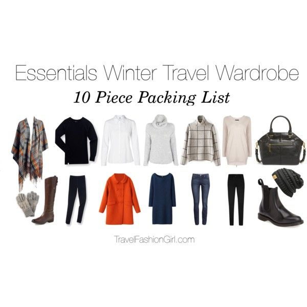 Sample 10 piece packing list and capsule wardrobe set for travel in the winter - read the full packing guide for more details!