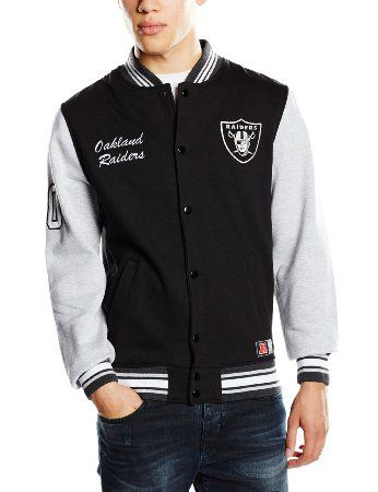 MajesticHartmen Letterman Jacke für Herren Small schwarz - Black Raiders