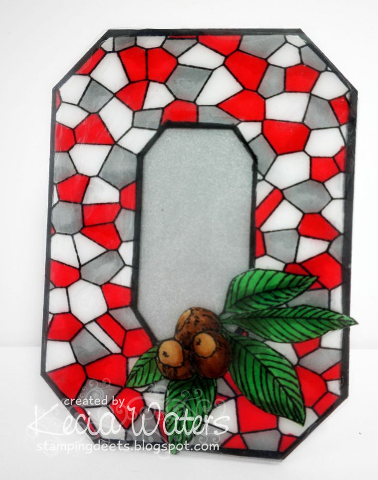 Stamping Deets: Stained Glass Block OOHIO STATE BUCKEYES More Pins Like This At FOSTERGINGER @ Pinterest